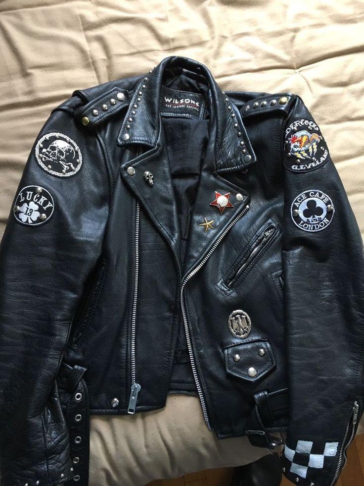 1054456df Dica de look do dia: Jaqueta de moto de couro dos homens Cafe Racer Punk  Rock Metal Goth Biker   eBay ww ... - Templo Metal • Portal de notícias do  Rock ...